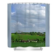 Big Suffolk Sky Shower Curtain