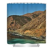Big Sur And The Bridge Shower Curtain by Adam Jewell