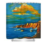 Big Sur At The West Coast Of California Shower Curtain by Patricia Awapara