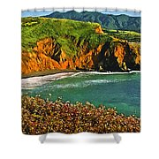 Big Sur California Coastline Shower Curtain
