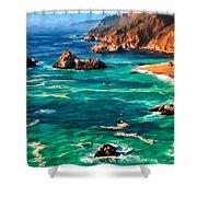 Big Sur Coast Shower Curtain