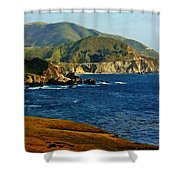 Big Sur Coastline Shower Curtain by Benjamin Yeager
