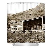 Big Sur Hot Springs Now The Esalen Institute California Circa 1961 Shower Curtain