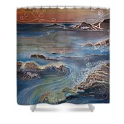 Big Sur In Sunset Shower Curtain