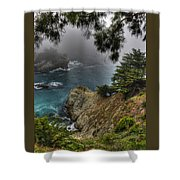 Big Sur Julia Pfeiffer State Park-1 Central California Coast Spring Early Afternoon Shower Curtain