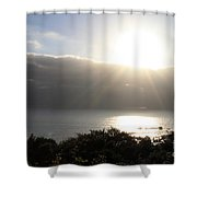 Big Sur Sunset Shower Curtain