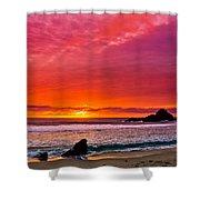 Big Sur Sunset Pfeiffer Beach Shower Curtain