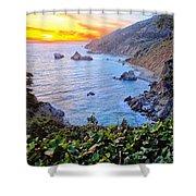 Big Sur Sunset Shower Curtain