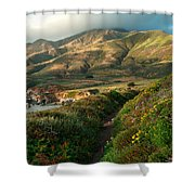 Big Sur Trail At Soberanes Point Shower Curtain
