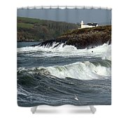 Big Swell In Dingle Bay Shower Curtain
