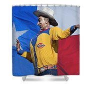 Big Tex And The Lone Star Flag Shower Curtain