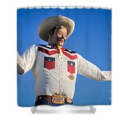 Big Tex - State Fair Of Texas - No. 2 By D. Perry Lawrence Shower Curtain