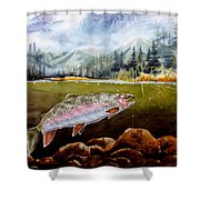Big Thompson Trout Shower Curtain