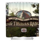 Big Thunder Ranch Signage Frontierland Disneyland Shower Curtain