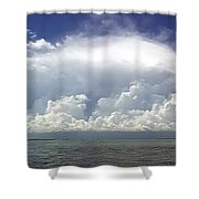 Big Thunderstorm Over The Bay Shower Curtain