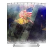 Big Top Elephant Riding Photo Art Shower Curtain