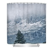 Big Tree At The Mountains Shower Curtain