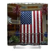 Big Usa Flag 1 Shower Curtain