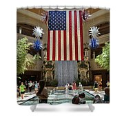 Big Usa Flag 3 Shower Curtain