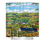 Big Valley By Prankearts Shower Curtain