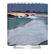 Big Wave Waterscape  Shower Curtain