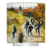 Big Wheel Bicycles Shower Curtain