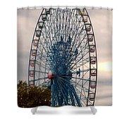 Big Wheel Keep On Turning Shower Curtain