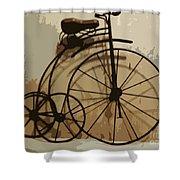 Big Wheel Trike Shower Curtain