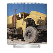 Big Wheels Not Rollin Water Truck Shower Curtain