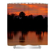 Big Cypress Sunset Shower Curtain