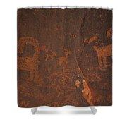 Bighorn Sheep Petroglyph Zion National Park Shower Curtain