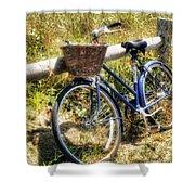 Bike At Nantucket Beach Shower Curtain