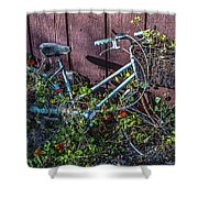 Bike In The Vines Shower Curtain