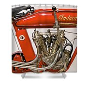 Bike - Motorcycle - Indian Motorcycle Engine Shower Curtain