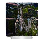 Bike Noir Shower Curtain