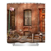 Bike - Ny - Urban - Two Complete Bikes Shower Curtain