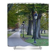 Bike Path Along Kelly Drive Shower Curtain