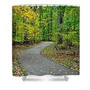 Bike Path Shower Curtain by Frozen in Time Fine Art Photography
