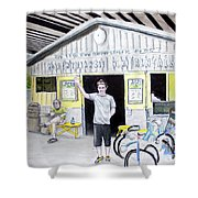 Bike Pittsburgh Shower Curtain
