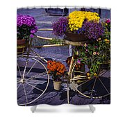 Bike Planter Shower Curtain