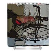 Bike Seat View Shower Curtain