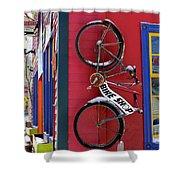 Bike Shop Shower Curtain