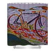 Bike Study Shower Curtain