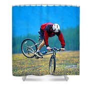 Bike Stunt Shower Curtain