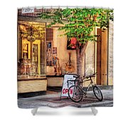 Bike - The Music Store Shower Curtain by Mike Savad