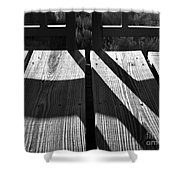 Bike Trail Bridge Bw Shower Curtain