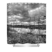 Bike Trail Off-season Shower Curtain