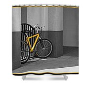 Bike With Frame Shower Curtain