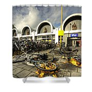 Bikes After The Storm  Shower Curtain