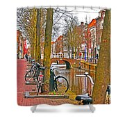 Bikes And Canals Shower Curtain